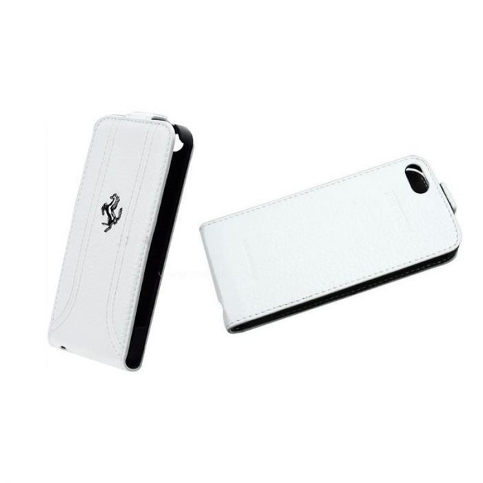 2013, White, iPhone 5, Ferrari Horse Flip Case