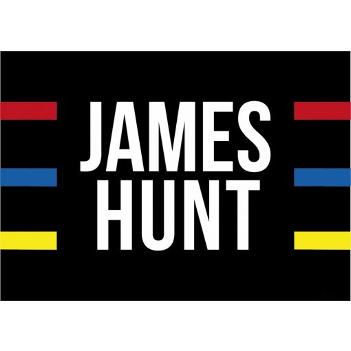 2020, Black, 140x100 cm, James Hunt Helmet 1976 Flag