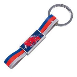 2016, Blue, STR Bull Rubber Keyring