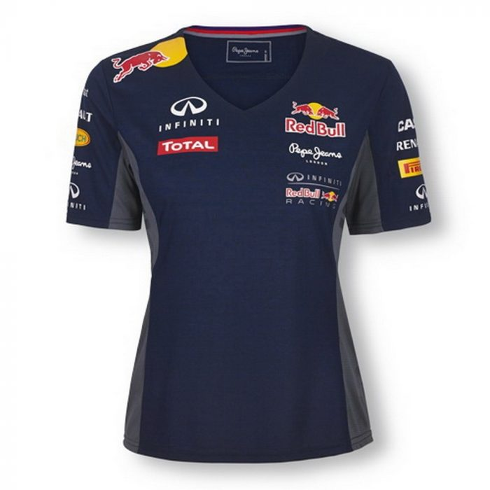 2015, Blue, M, Red Bull Round Neck Womens Team T-shirt