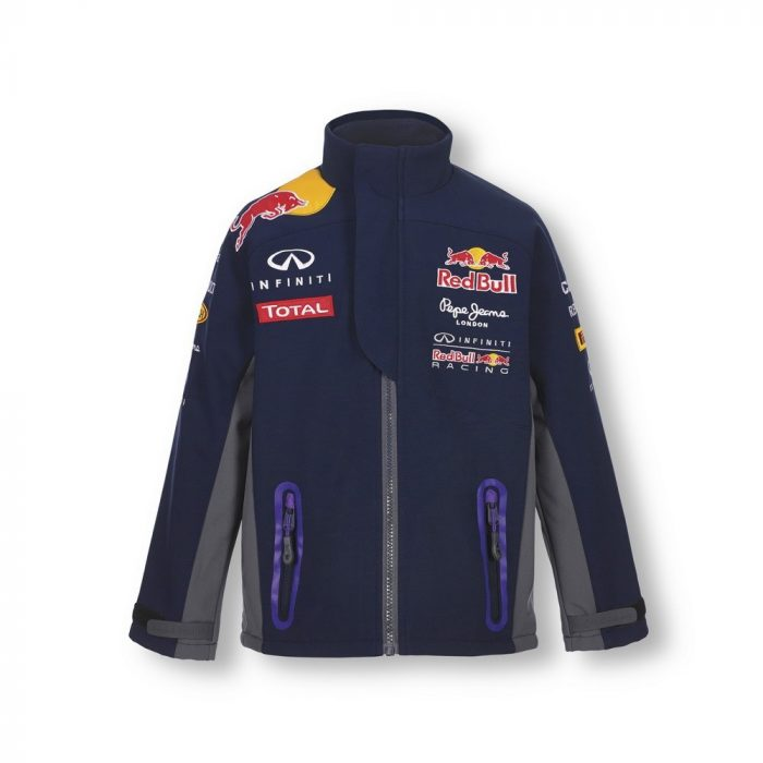 2015, Blue, 5-6 years, Red Bull Kids Softshell Team Jacket