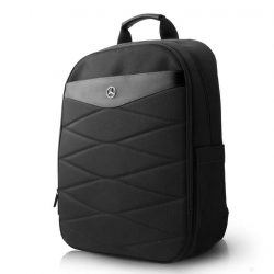 2019, Black, 42x30x17 cm, Mercedes Pattern Backpack