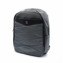 2019, Grey, 42x30x17 cm, Mercedes Pattern Backpack