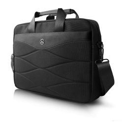 2019, Black, 38x28x10 cm, Mercedes Pattern Laptop Bag