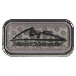 2015, Gray, Schumacher Logo brooch