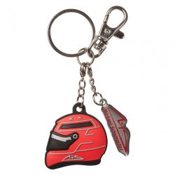 2015, Red, Schumacher Rubber Helmet Keyring