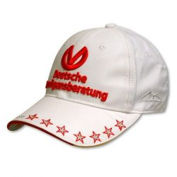 2015, White, Adult,  Schumacher DVAG Baseball Cap