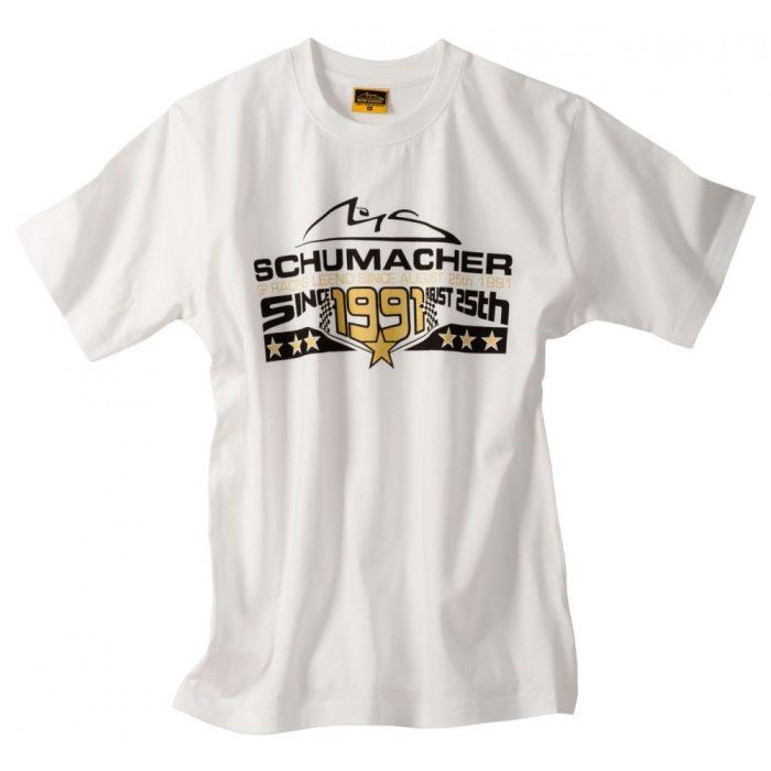 2015, White, S, Schumacher Round Neck T-shirt