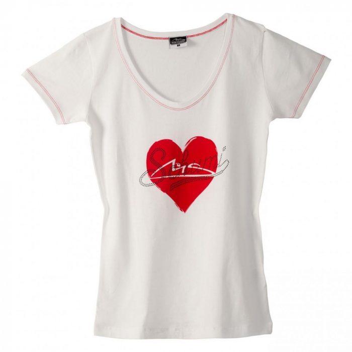 2015, White, M, Schumacher V Neck Womens T-shirt