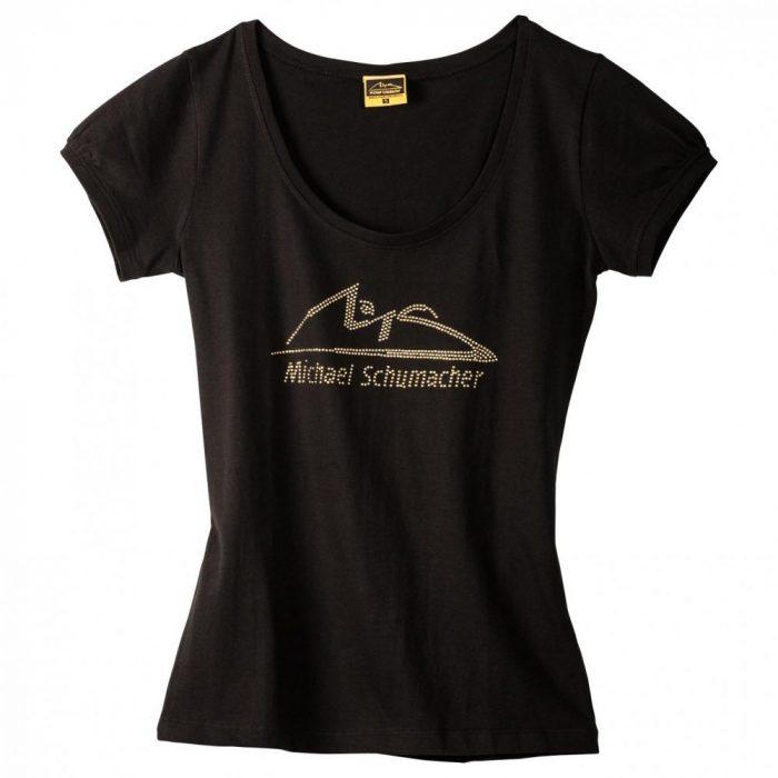 2015, Black, XS, Schumacher Round Neck Womens T-shirt