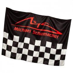 2015, Black, 140 x 100 cm, Schumacher checkered Flag