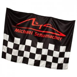2015, Black, 140 x 100 cm, Schumacher checkered Flag