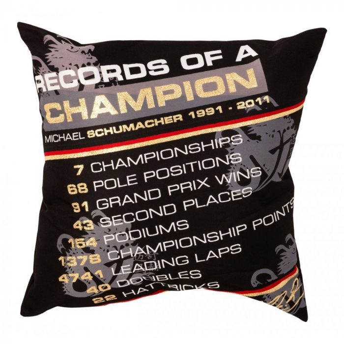 2015, Black, Schumacher Champion Pillow