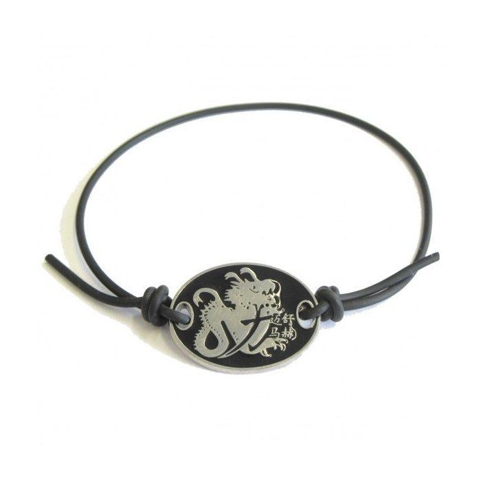 2015, Black, Schumacher Logo Mens Bracelet