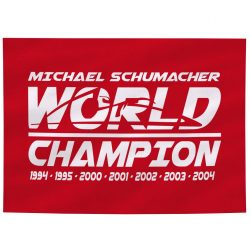 2018, Red, Schumacher World Champion Flag