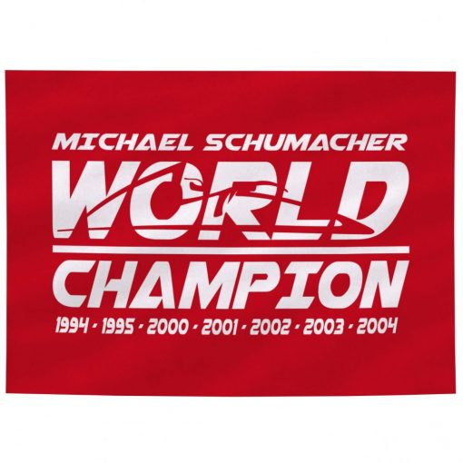 Schumacher World Champion Flag, Red, 2018 - FansBRANDS