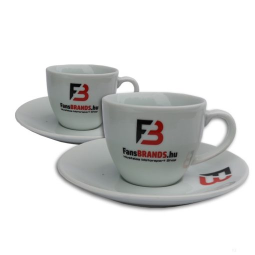 FansBRANDS Coffee Cup, White, 2 pcs