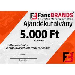 Ajándékutalvány 5000Ft