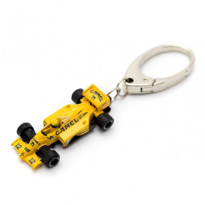 2014, Yellow, Senna Lotus 99T Car Keyring