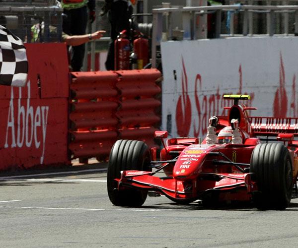 Kimi Raikönnen a Ferrarival