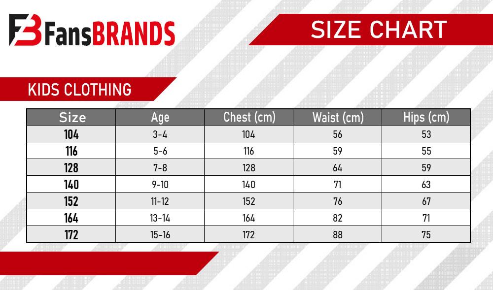 Kids dress size chart - FansBRANDS