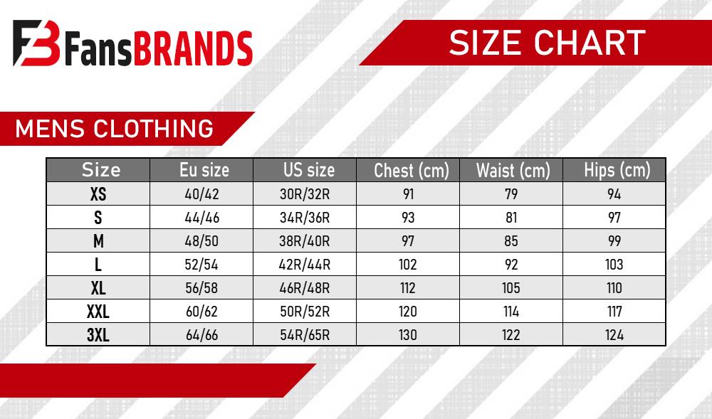 Men's suit size chart - FansBRANDS