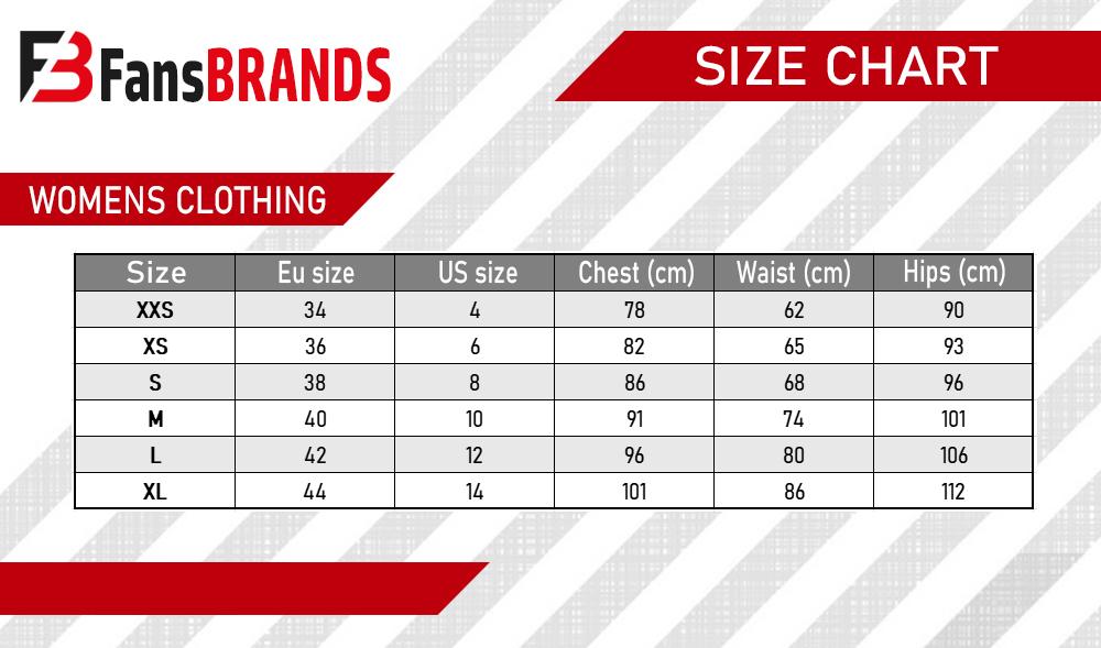 Women's dress size chart - FansBRANDS
