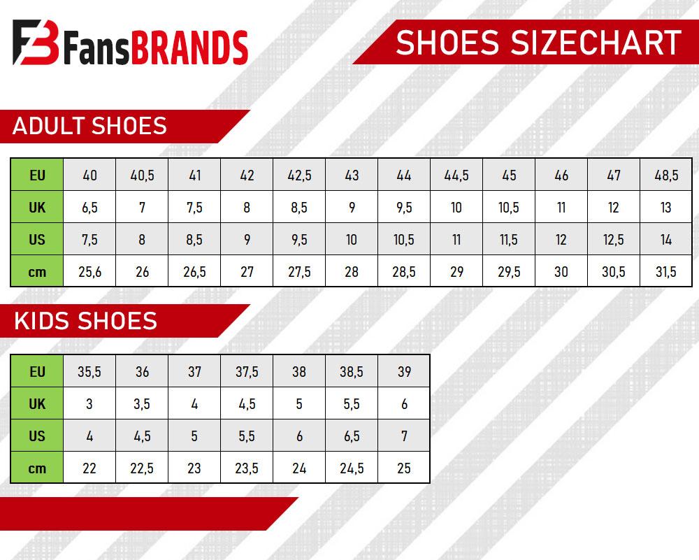 Shoes size chart - FansBRANDS